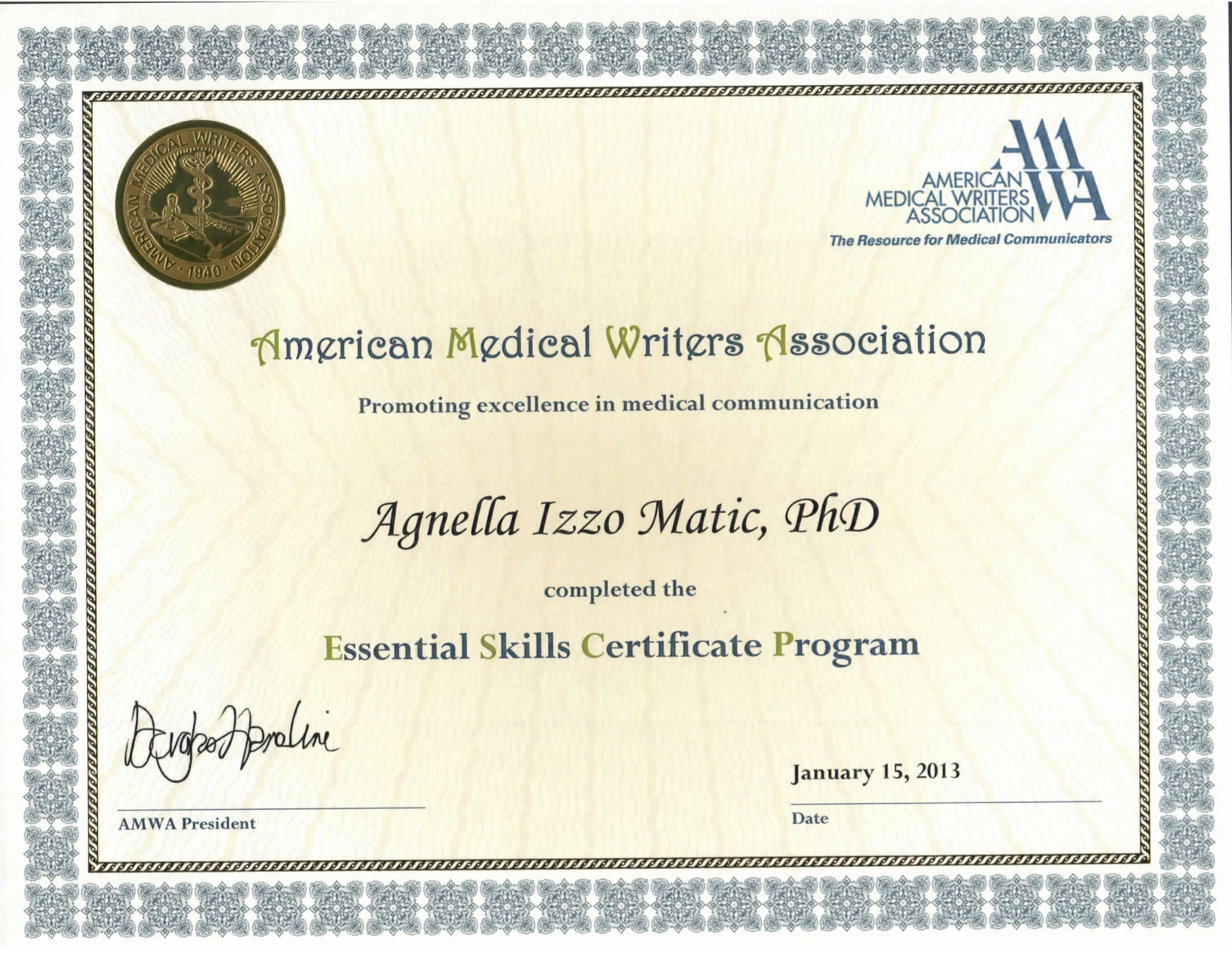 What education and certification does the writer have aim essential skills certificate from xflitez Gallery